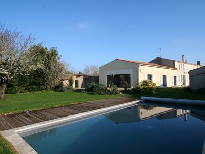 Photo for Renovated old house of 280m² near La Rochelle, sleeps 12, swimming pool