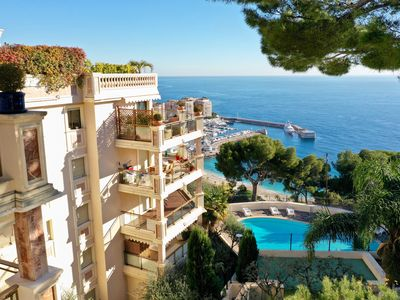 Photo for Residence Garden Plaza in Monaco with stunning sea view pool and security