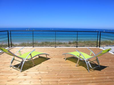 Photo for Holiday House in Plouescat, sea view, jacuzzi, directly on the beach