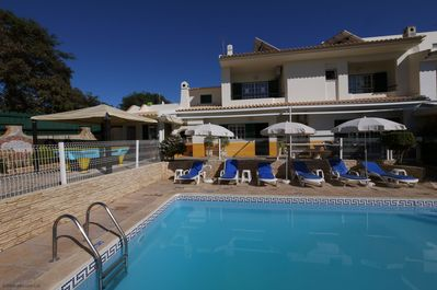 Large 9 x 4 metres pool with plenty room for sunbathing! Short walk to Old Town.