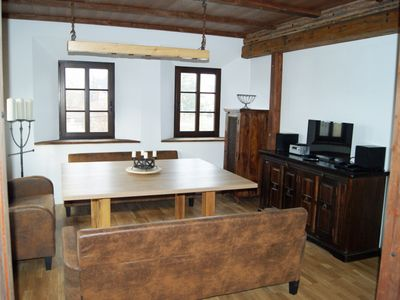 Photo for Apartment with a large family bed for 2 adults + 6 kids in the manor near Dresden