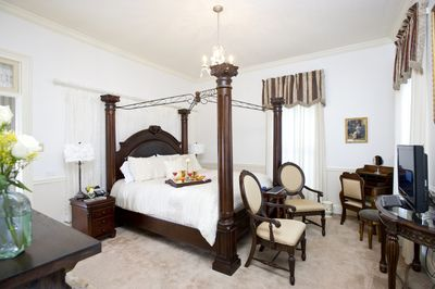 The Sion Bass Guest Suite in the Historic Bass Home downtown.