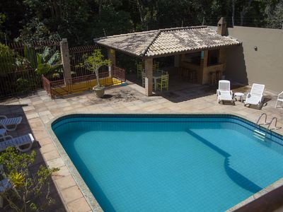 Photo for House with 5 suites with pool, WIFI, sauna, capacity for 20 people, garage