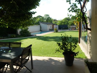 Photo for The fountains: 2 houses, 1 swimming pool, 1 garden and private parking
