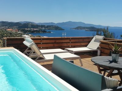 Photo for SUITE WHITE GEA WITH POOL STUNNING SEA VIEWS