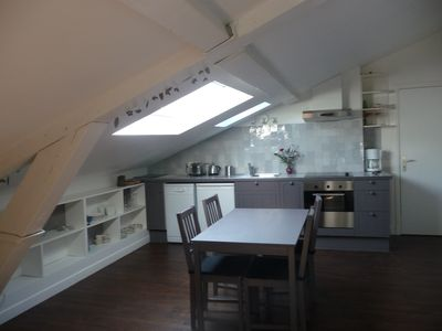 Photo for Charming 2 room attic apartment in a listed courtyard