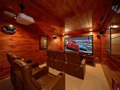 Photo for 4 Bedroom Gatlinburg Theater Room Cabin with Amazing Views of Mt LeConte
