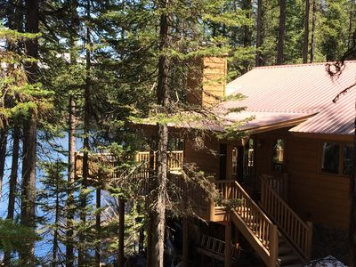 Photo for Beautifully updated home on Cygnet Lake with spectacular lake and mountain view.