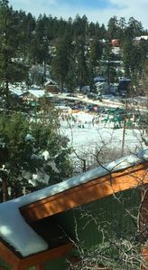 view from the master bedroom over looking Bear Mtn