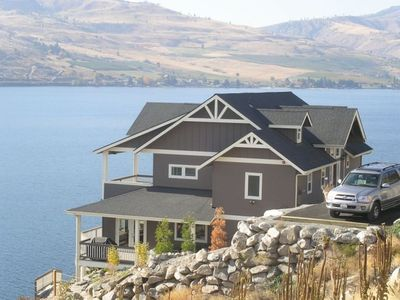 Photo for Chelan Bluff: Spectacular Private Waterfront Home and Dock with 2 master bdrms