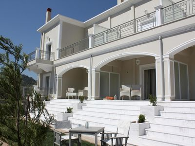 Photo for Perfect vacation in a beautiful holiday hous close to the beach, wifi | Korinthi