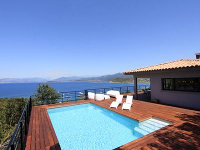 Photo for Beautiful modern villa with stunning views of Ajaccio bay - 8 people