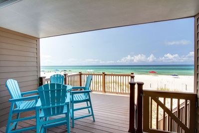Balcony - Walk right out to the beach from this gorgeous deck.