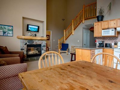 Photo for Spacious condo with Fireplace BBQ, Deck, Views