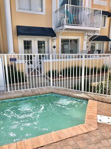 Steps to the hot tub from your patio