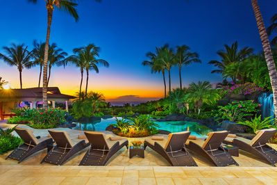 Amazing Sunset View Over the Ocean View Pools