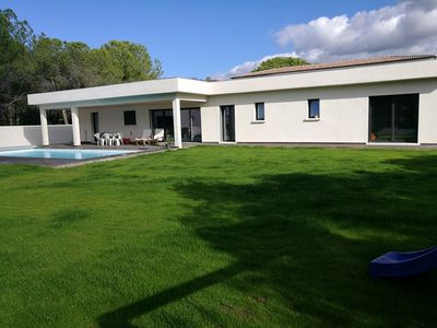 Photo for NEW INDIVIDUAL VILLA OF 200 m2 with 6 BEDROOMS FOR 12 PEOPLE