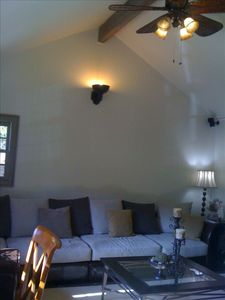 Vaulted Den with Leather and Suede