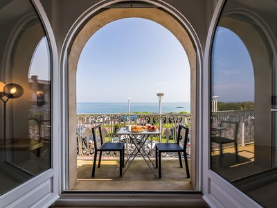 Photo for Seafront Duplex Apartment with Balcony and Garage in Biarritz