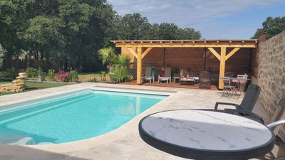 Photo for Bastide on ground of 10000 M2 With swimming pool with the foot of the solid mass of the Moors