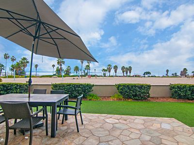 Photo for Ground Floor Ocean Front Condo South Mission Beach
