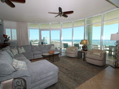 Photo for Turquoise C601~Beach Front w/Large Terrace & Hot Tub, Saltwater Lazy River!