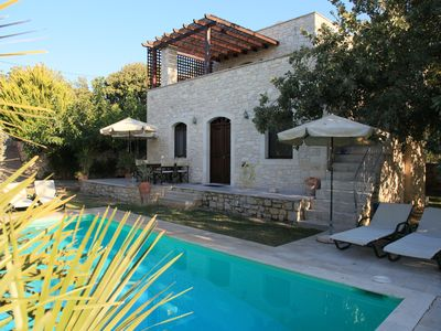 Photo for Villa Sifina, stone villa with sea views and quiet location, near the beach, pool