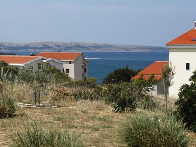 Photo for One bedroom apartment with terrace Povljana (Pag)
