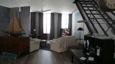 Photo for Large duplex historical center of La Rochelle 2 steps from the Old Port, the railway station,