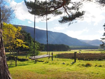 Photo for Stunning location in GlenFeshie, openplan, wood stove, pet and family friendly
