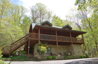 Photo for Lake Lure Log Cabin In Rumbling Bald Resort~Guest Amenity Passes Included~Peace and Quiet