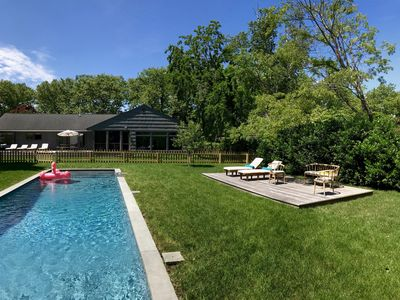 Photo for Modern Bellport Village Beach House With Pool.