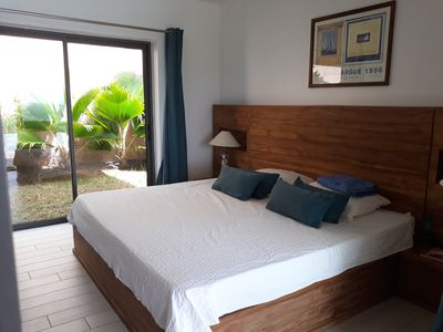 Photo for Sea view diving from the top of Tamarin, Prestigious Villa and Private Pool