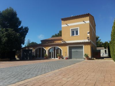 Photo for VILLA: PLAYGROUND, WEATHER, POOL, BARBECUE, SAT TV, WI-FI ....