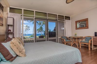 Beautiful ocean view from bed