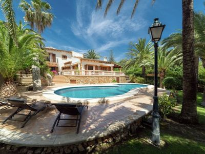 Photo for Villa located in first line from the beach on the isle of Mallorque