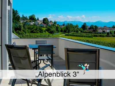 Photo for High-quality new building, handicapped friendly, large balcony, view of the Alps.