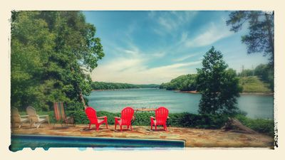 Photo for Pool and Boat dock  Incredible View! . Pontoon boat available