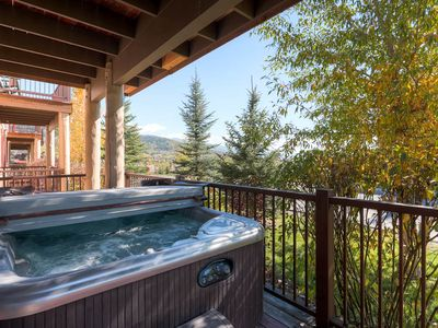 Photo for Townhome w/Private Hot Tub, Fitness Room, Pool, Deck w/ Summer Views