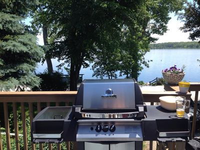 Photo for Very nice dog-friendly house right on Lake Champlain! Nature, fresh air, BBQ!