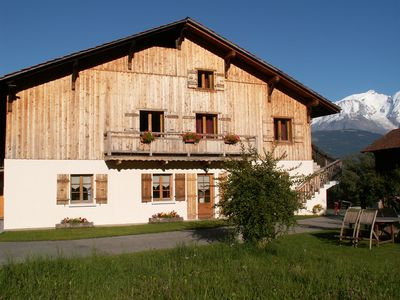 Photo for Gite Neuf (65m²), 4 to 6 people, facing Mont Blanc