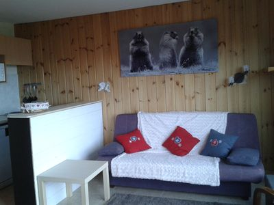 Photo for apartment sleeps 6 near the slopes beautiful view of the valley