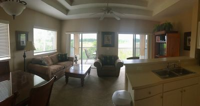 Open Concept Living -Dining - Kitchen