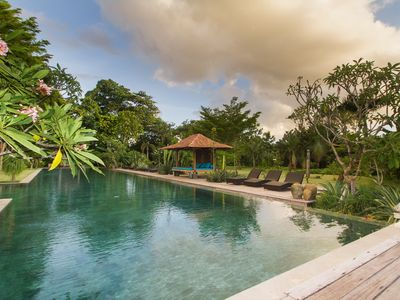 Photo for Serenity River Estate, 5 Bedroom Villa, feaute pool and gardens, chef, Canggu