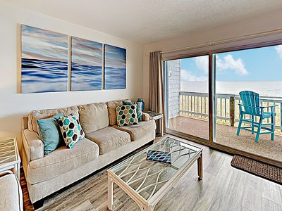 Photo for Chic Oceanfront Condo w/ Pool & Private Balcony - Steps to Beach!