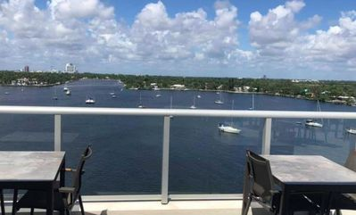 Photo for Beautiful Waterfront Condo on Intercoastal Waterway! Steps from Beach!