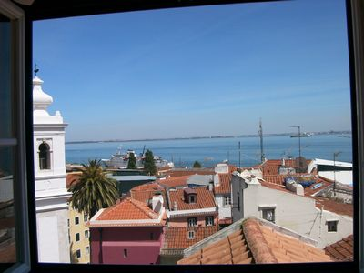 Photo for Flat in Lissabon above the roofs of Alfama with a gorgeous view