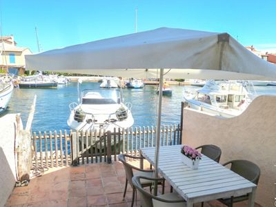 Photo for Seasonal rental 4 persons house  et  13 m mooring