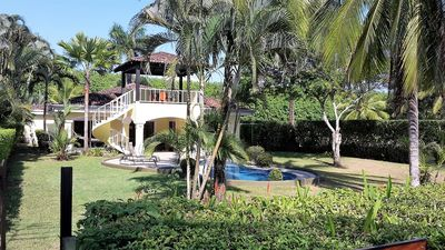 Photo for Beachfront home in Hermosa, Private Pool, Sunsets, Steps to CR's best surfing