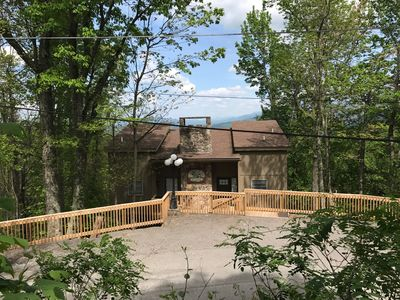 Photo for Spectacular view overlooking downtown Gatlinburg and the Smokies!
